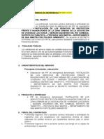 Terminos de Referencia Proyecto 001