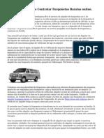 Alquilar Furgonetas Contratar Furgonetas Baratas online.