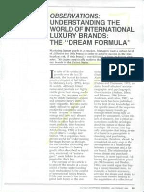 Understanding the World of International Luxury Brands- The 'Dream