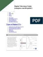 Types of Digital Tv