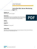 Customizing End-To-End SQL Server Monitoring in Solution Manger 7.1