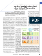 Genomics Into Rational Therapeutics