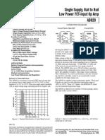 AD820A-Low Power FET-Input Op Amp