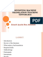 Revisiting machine translation teachingTINVOM 2015