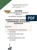 Informe Lab 3 Quimica