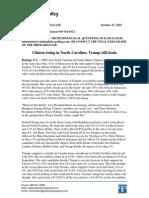 PPP Poll North Carolina October 27 2015