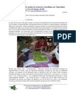 Rede Verde supports the Scientific Research on Organic Farming in Foz do Iguaçu, Brazil (French)