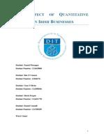 The Effect of Quantitative Easing on Irish Businesses
