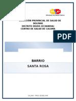 Diagnostico Del Barrio Santa Rosa caluma