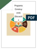 Programa Construyendo Educación CEPEM 2016