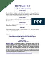 Ley de Contrataciones Del Estado Decreto 57-92