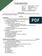 ProgramaProbabilidad y Estadística IQI