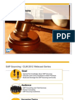SAP Sourcing - Running Auctions