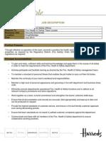 Fire Safety Officer - Job Description