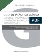 Guía de práctica clínica de las lesiones traumáticas de la mano y muñeca. Desarticulaciones y amputaciones de muñeca y mano