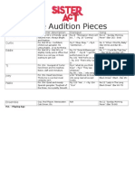 Male Audition Pieces