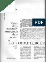 La Comunicación Desde La Cultura (Alternativa Latinoamericana 6, pág 42-50)