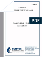 Distressed Unit Appeal Board transcript