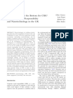 CSR in the UK Nanotechnology Industry