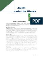 Aerosol Airlift Eliminador de Olores Ficha t