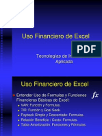 Uso Financiero de Excel