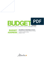 Budget Address by the Honourable Joe Ceci, President of Treasury Board, Minister of Finance