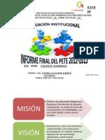 Informe Final Pete 2012-2013