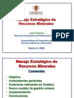 Manejo Estrategico de Recursos Minerales