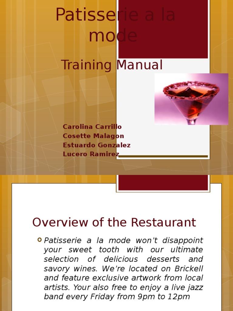 Superb Food And Beverage Training Manual 1   Waiting Staff   Food U0026 Wine