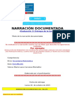 Narración Documentada_Estructura Presentación