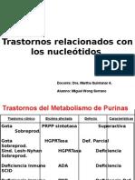 deficiencias metabolismo  purinas