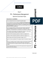CIMA_P2_Performance Management_Specimen Papers_Qs_Nov_2009