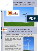 Generatori eolici Klimeko di ultima generazione - serie business