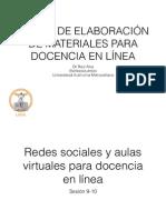 Redes sociales y aulas virtuales para docencia en línea