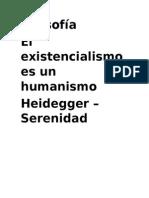 Existencialismos Es Un Humanismo-HEIDEGGER