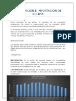 Exportación e Importación de Bolivia