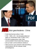 Amerika vs China Present a Tie