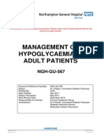 Management of Hypoglycaemia in Adult Patients Guideline