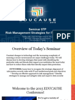 Seminar 07P - Risk Management Strategies for IT Executives (separate registration is required) (287382773)