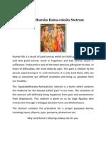 ApaduddharakaRamaRaksha Stotra Parayanakrama