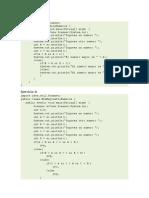 ejercicios Java