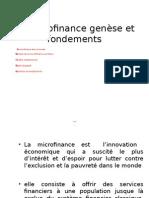 La Microfinance Genese Et Fondements