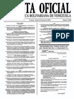 Sumario Gaceta Oficial 39.390