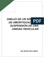 Dibujo de Un Sistema de Amortiguación y Suspensión de Una Unidad Vehicular
