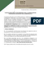 Convocatoria Profesores UACM 2013