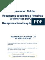Te 3 - Comunicación Celular. Receptores Acoplados a Proteína G y Tirosin Quinasa