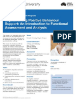 Monash Uni Positive Behaviour Course