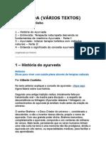 AYURVEDA VARIOS TEXTOS Gilberto Coutinho Holismo Terapias Naturais