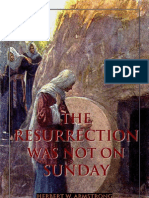The Resurrection Was Not On SUNDAY