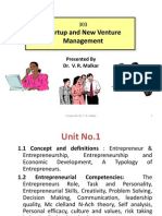 Start-up and New Venture Management  Unit No.1 Notes